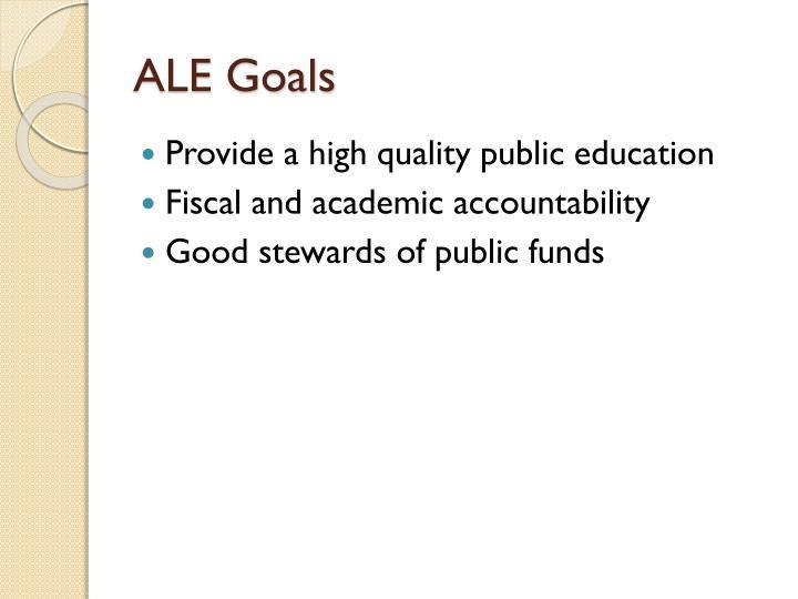 ALE Goals