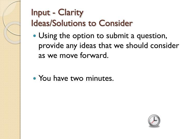 Input -