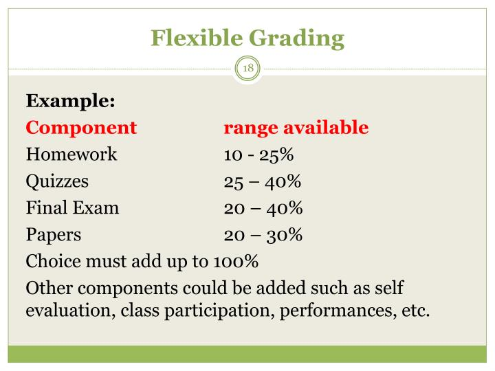 Flexible Grading