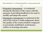 formative vs summative assessment