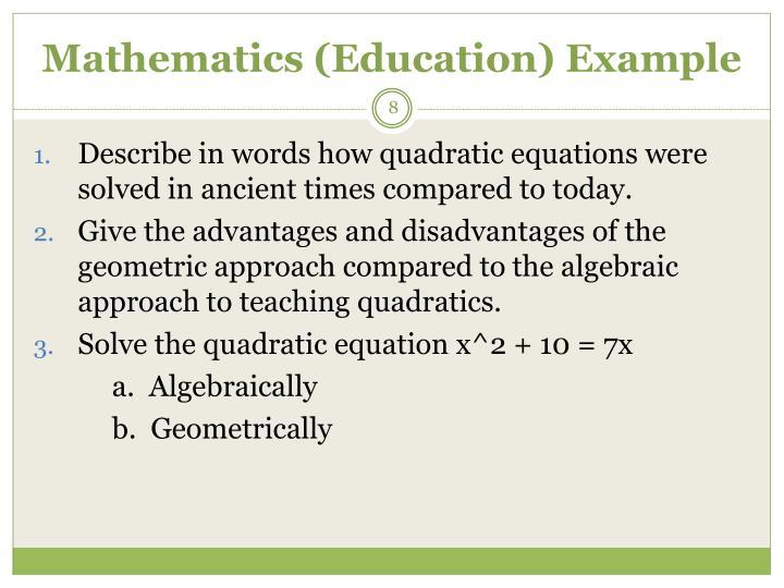 Mathematics (Education)