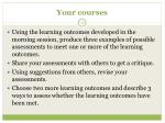 your courses