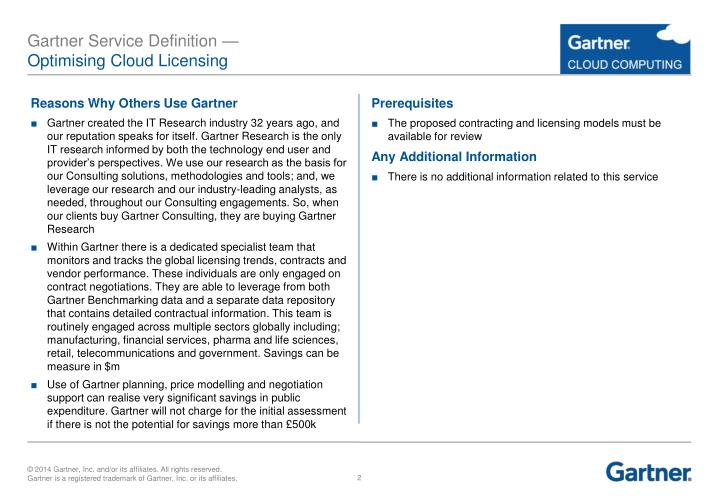 Gartner service definition optimising cloud licensing1
