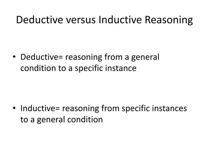 Deductive versus Inductive Reasoning