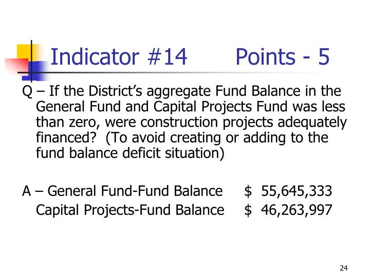 Indicator #14Points - 5