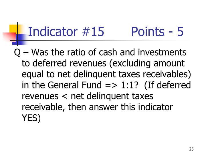 Indicator #15Points - 5