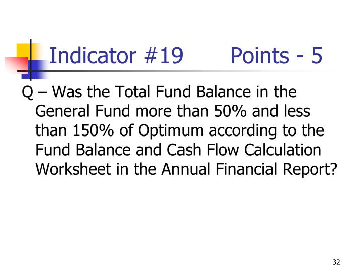 Indicator #19Points - 5