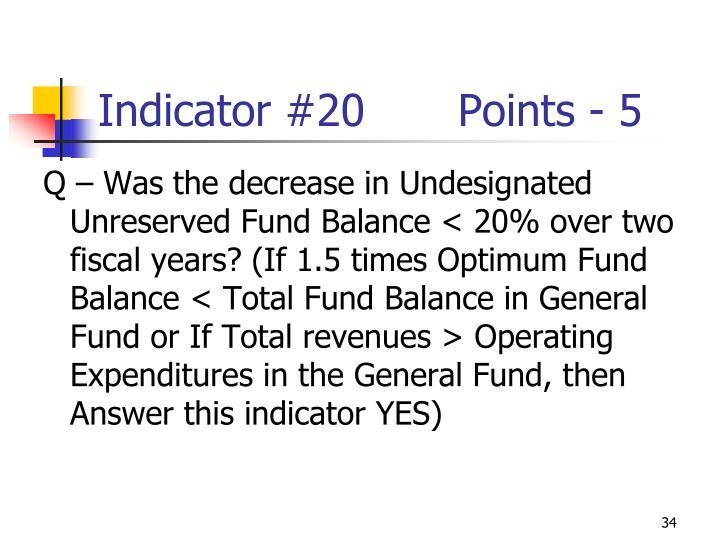 Indicator #20Points - 5