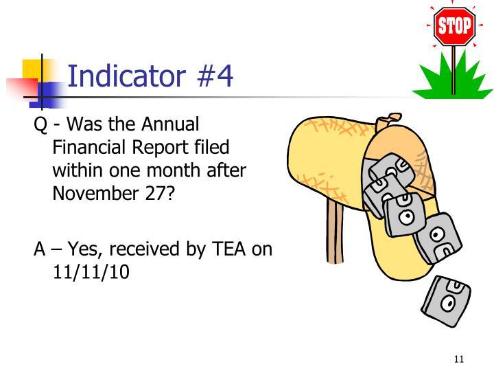 Indicator #4
