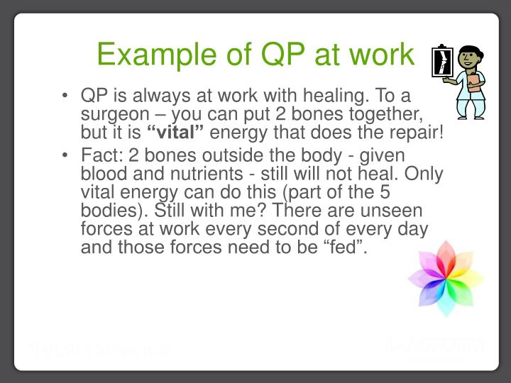 Example of QP at work