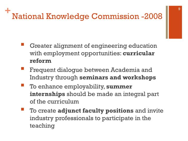 National Knowledge Commission -2008