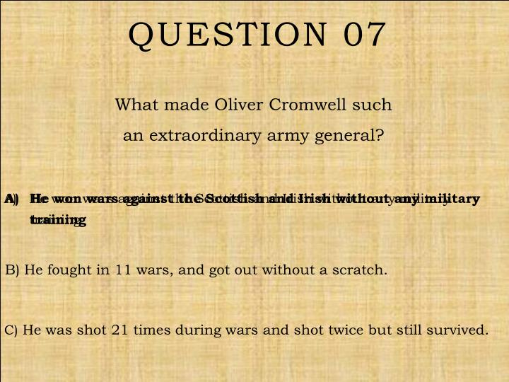 Question 07
