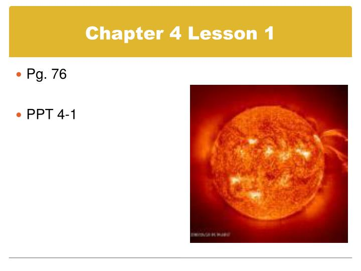 Chapter 4 Lesson 1