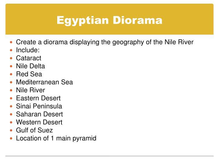 Egyptian Diorama