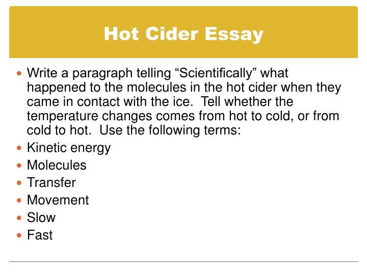 Hot Cider Essay