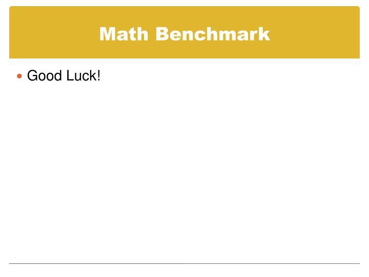 Math Benchmark