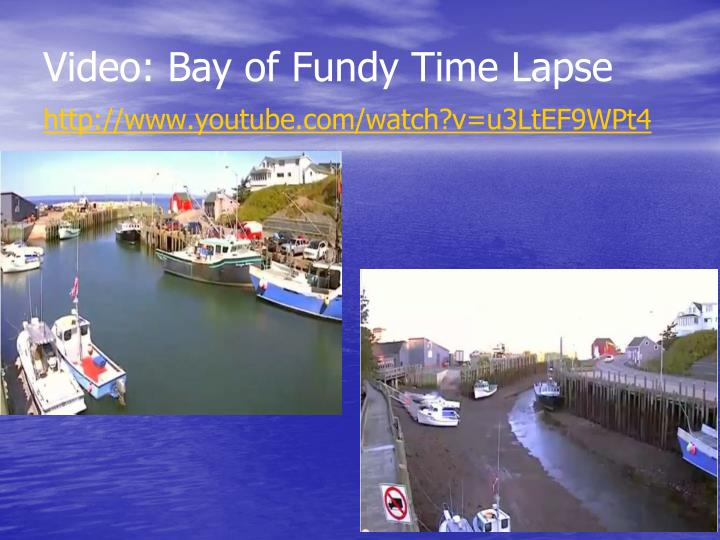 Video: Bay of Fundy Time Lapse