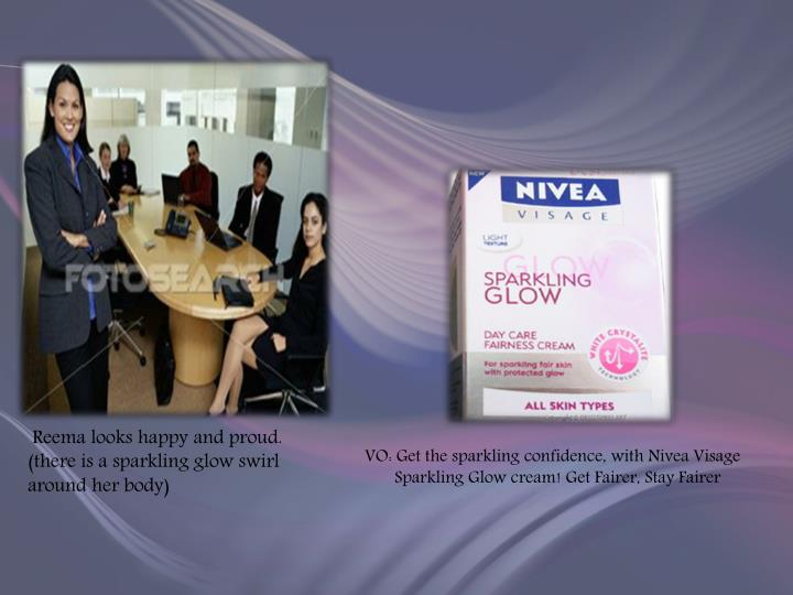 VO: Get the sparkling confidence, with Nivea Visage Sparkling Glow cream! Get Fairer, Stay Fairer
