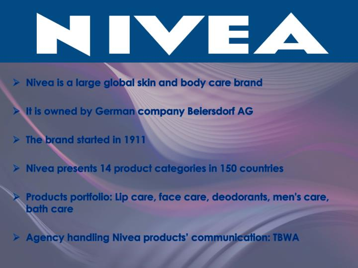 Nivea is a large global skin and body care brand