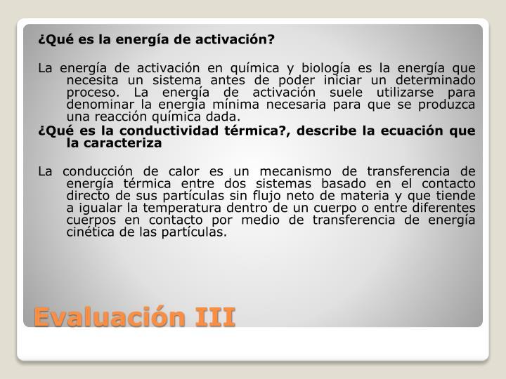 ¿Qué es la energía de activación?