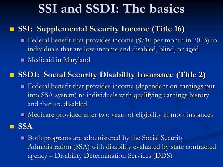 SSI and SSDI: The basics