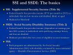 ssi and ssdi the basics
