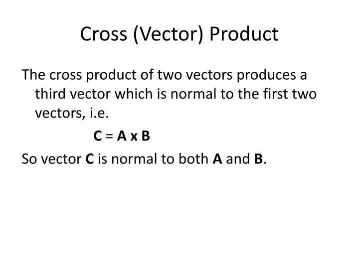 Cross (Vector) Product