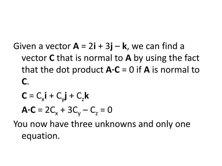 Given a vector