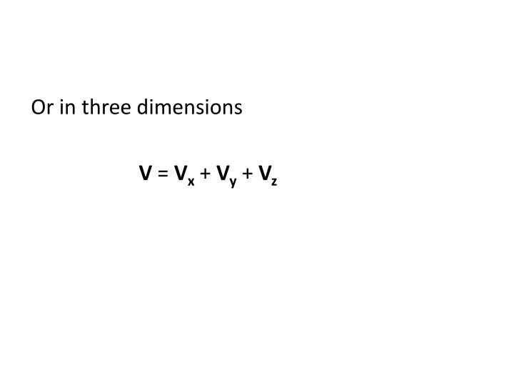 Or in three dimensions
