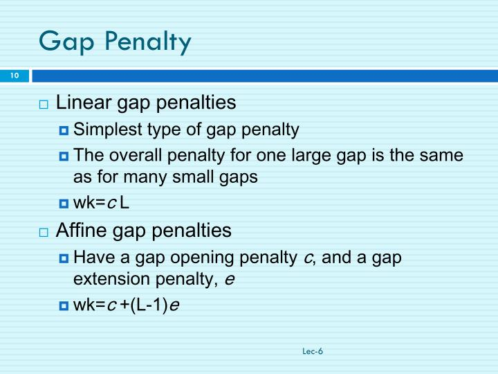 Gap Penalty