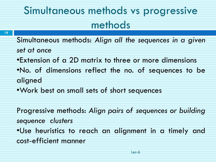 Simultaneous methods