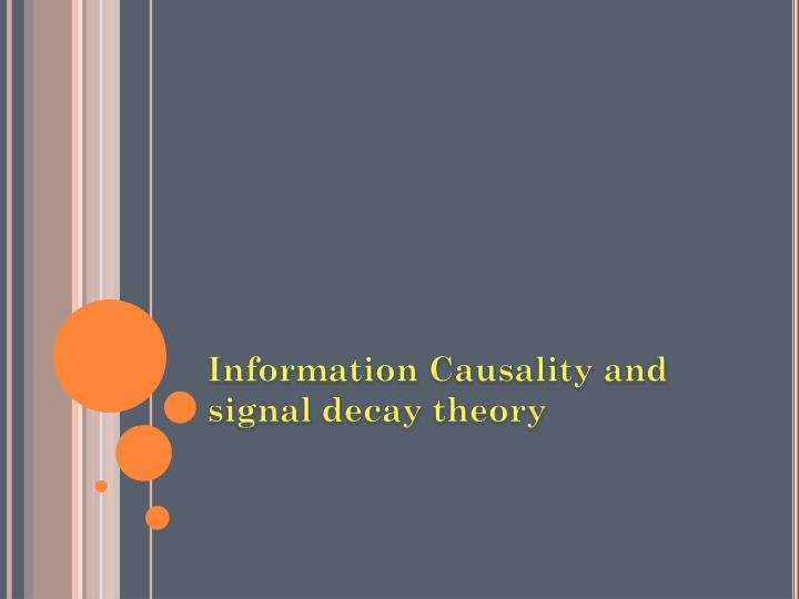 Information Causality and