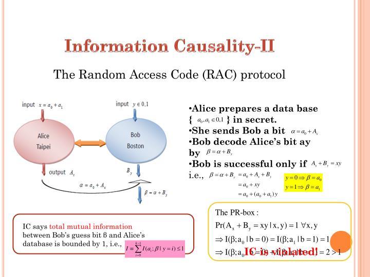 Information Causality-II