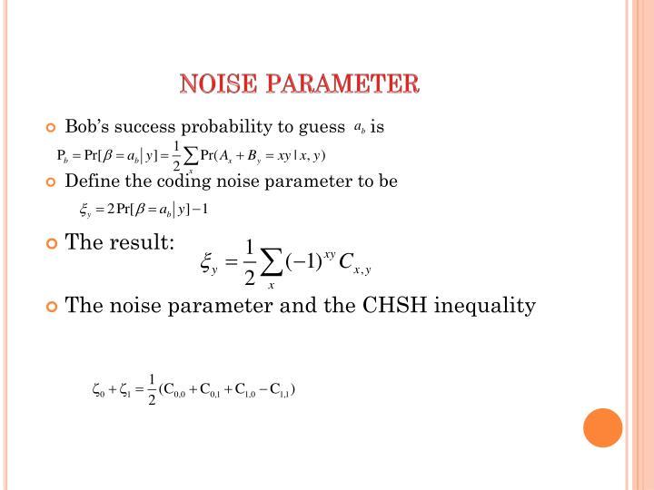 noise parameter