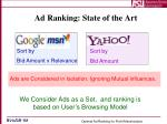 ad ranking state of the art
