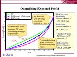 quantifying expected profit