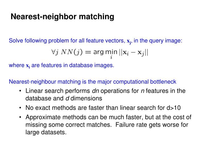 Nearest-neighbor matching