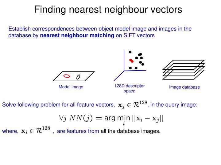 Finding nearest neighbour vectors