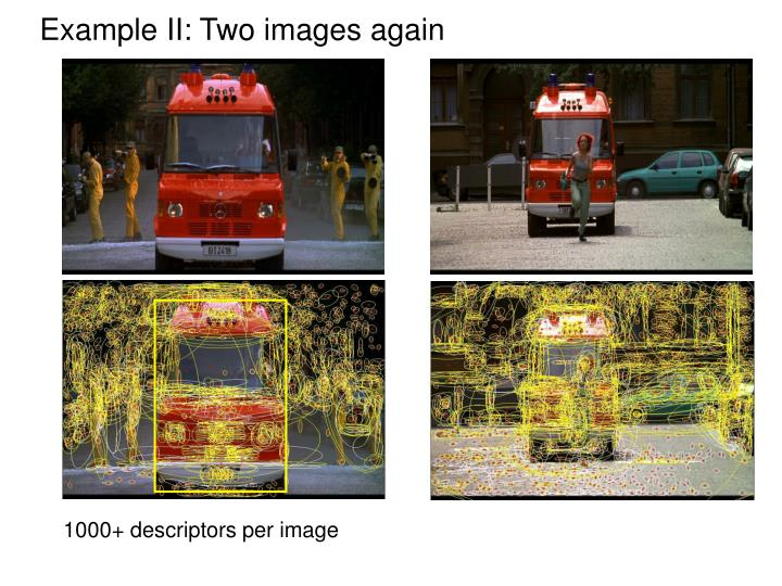 Example II: Two images again