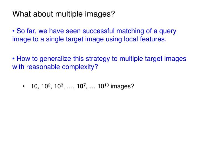 What about multiple images?
