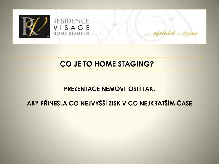 CO JE TO HOME STAGING?