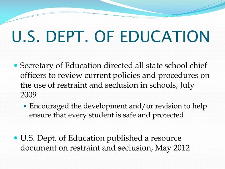 U.S. DEPT. OF EDUCATION