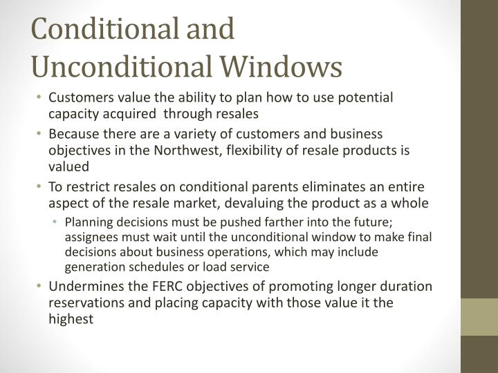 Conditional and