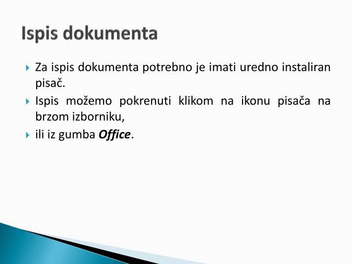 Ispis dokumenta