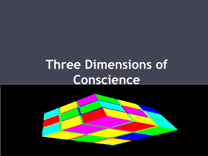 Three Dimensions of Conscience