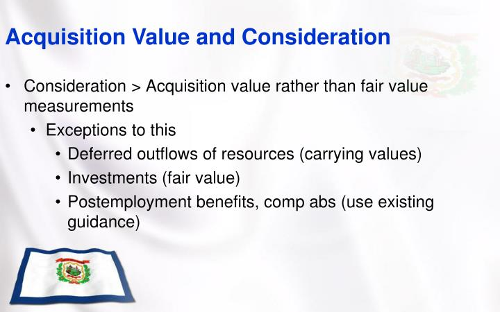 Acquisition Value and Consideration