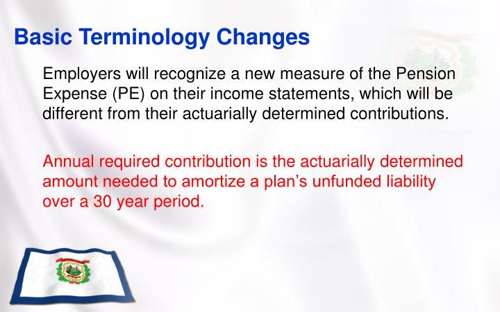 Basic Terminology Changes