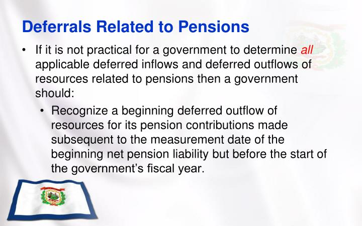 Deferrals Related to Pensions
