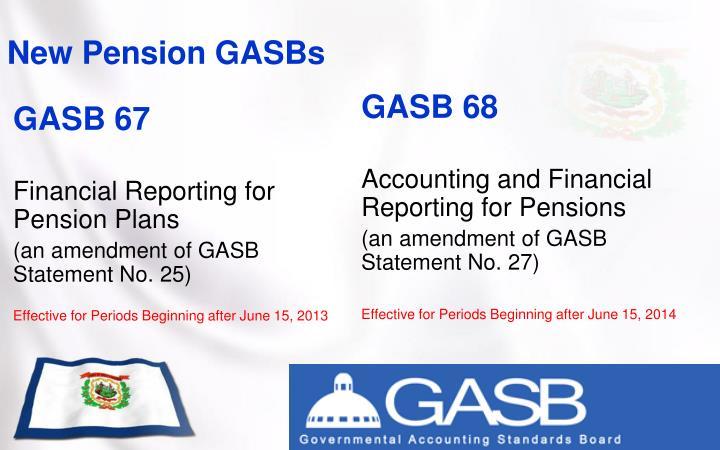 New Pension GASBs