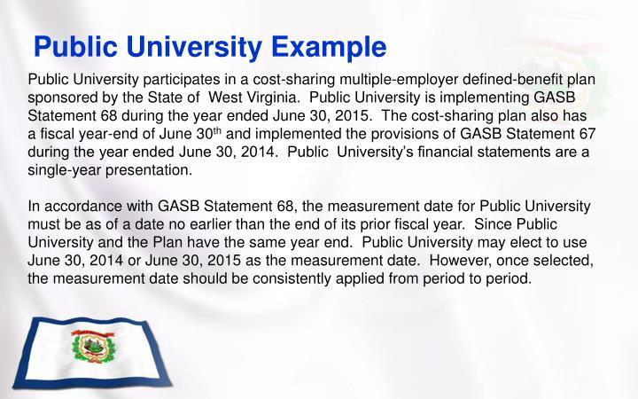 Public University Example